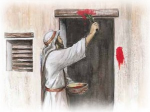 applying passover blood