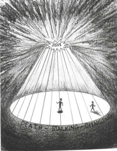 Image of stepping into the light