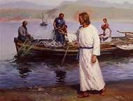Jesus fishing image
